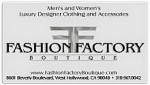 fashion factory logo businesscard